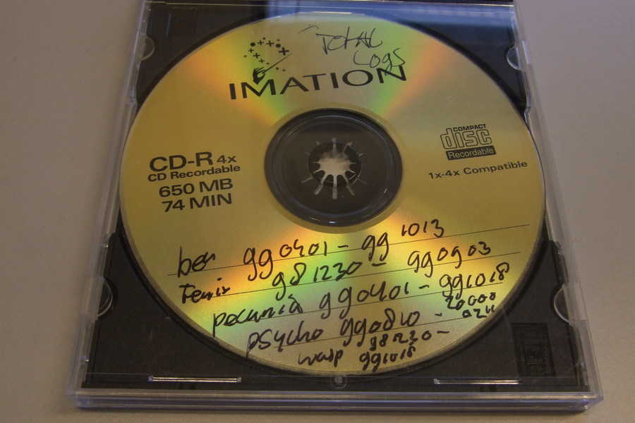 CD-ROM with handwritten text