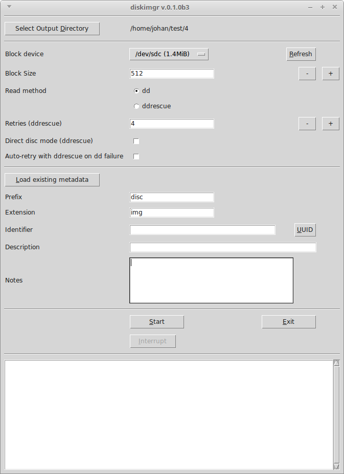 Screenshot of diskimgr interface